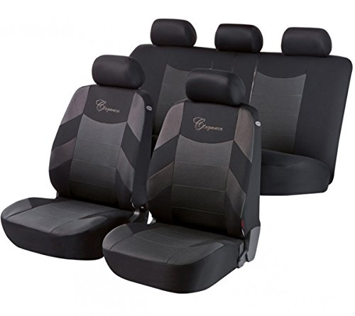 Black Grey Leather Car Seat Covers Cover Set For Ford Kuga 2012 On