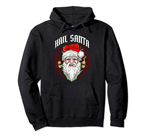 Hail Santa! Funny Atheist Christmas Gift Pullover Hoodie