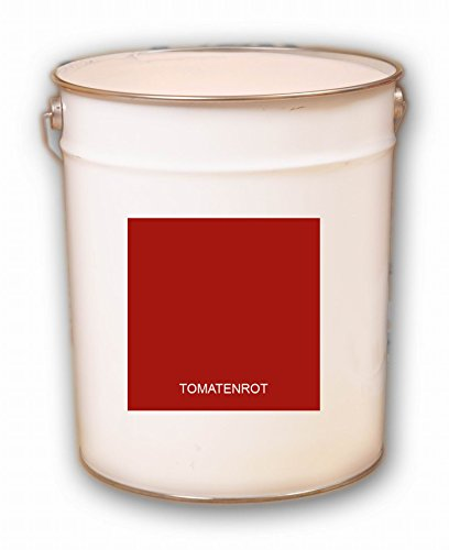 20 Liter rot Tomatenrot Acryl Dachfarbe Dachanstrich Ziegelfarbe Dachbeschichtung Metalldach Blechdach Acrylat Basis