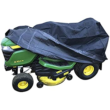 43 43in(170 Outdoors Lawn Mower Cover 110 110cm)Waterproof and Anti-UV PE Material Lawn Tractor Cover for Outdoor Garden Tractor with Storage Bag 67