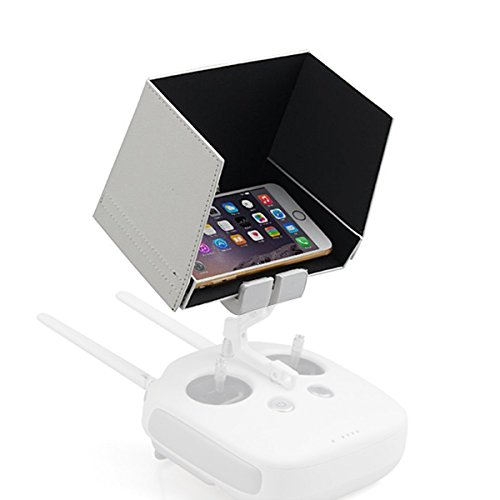 Powerextra 5.5 Inch Smartphone Monitor Sunshade Hood for DJI Inspire 1 Phantom 3 4K and Phantom 4 Transmitters Fit for iphone 7plus 7 6s 6 Samsung Galaxy S7 Edge S6 S5 Galaxy Note7 5