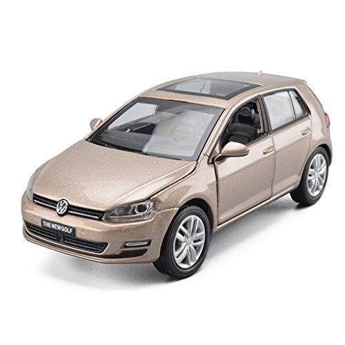SXET-Modellauto Modellauto Spielzeug Modell Volkswagen Golf 7SUV Legierung Automodell 1:32 Druckguss Modellauto Modell Ornamente (Farbe : Champagne Gold)