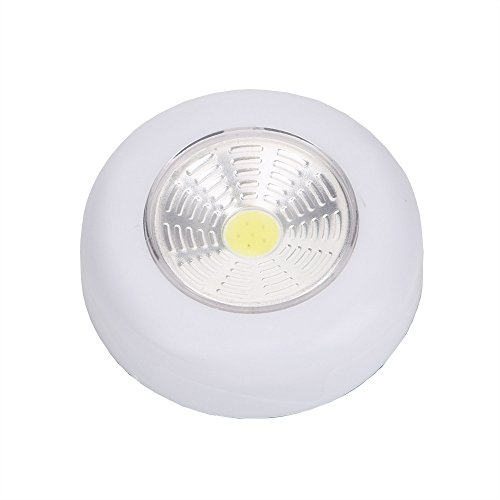 goodjinHH NEUE COB Nachtlicht Haus Küche Unter Kabinett Schrank Push Stick Auf Lampe Puck Lichter für Schränke, Schränke, Stamm
