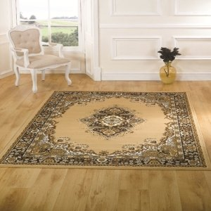 Element Lancaster Beige Contemporary Rug Rug Size: 220cm x 160cm (7 ft 2.5 in x 5 ft 3 in)