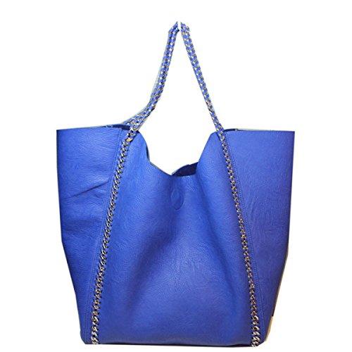 Nuovo Sacchetto Di Spalla Del Sacchetto Femminile Del Sacchetto Del Sacchetto Del Messaggero Grande Capacità,Black Blue