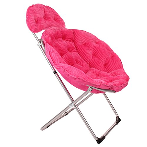 ERRU-Chaises Canapé pliable pliable Chaises longues / fauteuil inclinable portable Chaise de jardin extérieure de loisirs (couleur en option, 50 * 50 * 95cm) ( Couleur : Rose red )