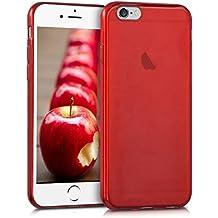 kwmobile Funda para Apple iPhone 6 / 6S - Case para móvil en TPU silicona - Cover trasero en rojo brillante