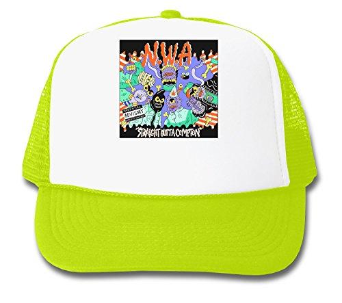 NWA Straight Outta Compton Cartoon Design Trucker Cap (E Eazy Hat Compton)