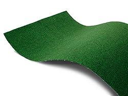 Rasenteppich für Balkon Meterware COMFORT - 1,33m x 1,00m Vlies-Rasenteppich mit Noppen, Balkon Bodenbelag, Outdoor Teppich