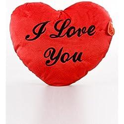 Suave cojín I Love You rojo corazón día de San Valentín Regalo