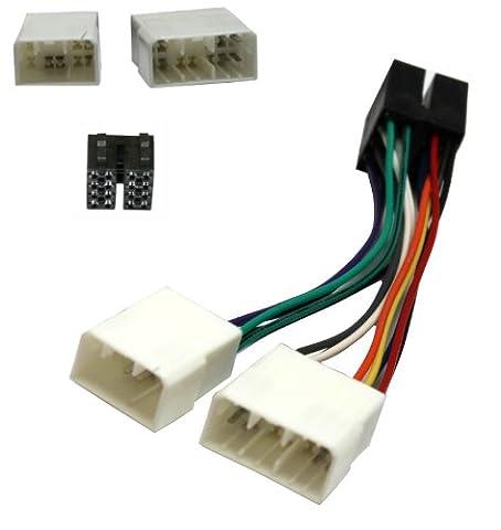 Aerzetix: Adaptateur autoradio Z1 câble convertisseur faisceau compatible fiche Mazda vers fiche ISO - C1932