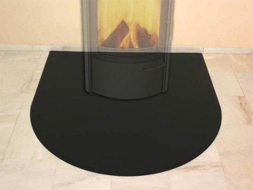 HARK Blechbodenplatte 1230 x 1300 x 1,5 mm halbrund graphit