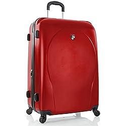. 50% DESCUENTO PREMIUM DESIGNER Maleta Rígida - Heys Core XCase Spinner Rosso Trolley con 4 Ruedas Grande