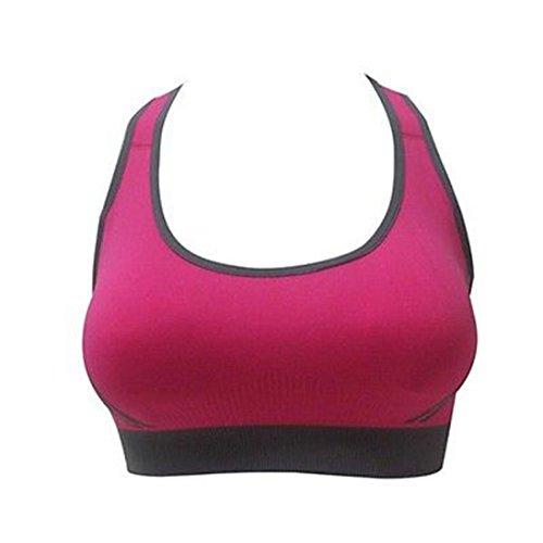 E Sous Vetement Femme Sexy, Kolylong® Femmes Soutien-Gorge Rembourré Haut Athletic Vest Gym Fitness Sport Yoga Stretch Rose vif