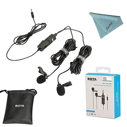 Universal Stereo (Boya BY-M1DM Dual Lavalier Universal Microphone with a Single 1/8