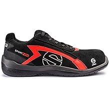 Sparco S0751644NRRS Sport Evo - Scarpa di sicurezza, colore: nero e rosso, taglia 44