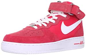 NIKE Air Force 1Mid 07315123604Rouge - - Rot (Red/White), 45.5 EU