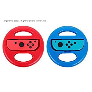 Lenkrad – For Use With Switch Joy-Con- Twin Pack – Blau / Rot
