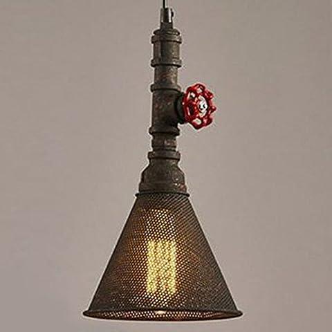 Industrielle Trompete Form Deckenleuchte, SUN RUN Kreativ Retro Wasser Rohr Leuchte Leuchte Kronleuchter Vintage Metall Pendelleuchte mit lackiertem Finish für Esszimmer Küche