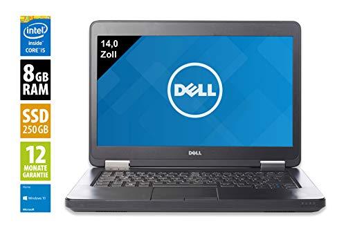 Dell Latitude E5440 | Notebook | Laptop | 14,0 Zoll (1366x768) | Intel Core i5-4310U @ 2,0 GHz | 8GB DDR3 RAM | 250GB SSD | DVD-Brenner | Webcam | Windows 10 Home (Zertifiziert und Generalüberholt) Dell Intel Notebooks