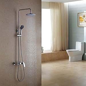 BEY Duscharmaturen - Zeitgenössisch - Regendusche/Handdusche inklusive - Messing ( Chrom )