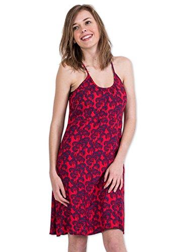 Coton Du Monde - Robe CHRISTINA Imprimé 31 Rouge Multicolore