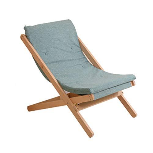 Wolaoma Chaise portative en bois de chaise pliante (Couleur : Vert, taille : 65 * 89 * 78cm)