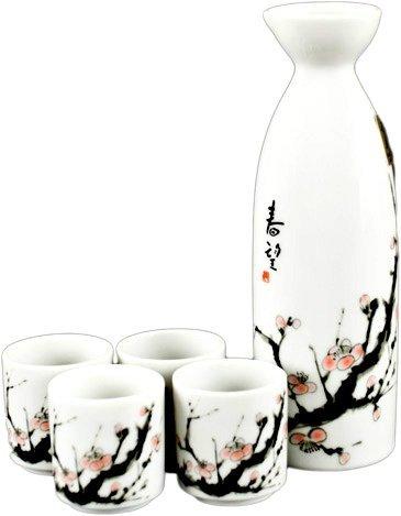 Cherry Blossom Japanese Sake Set by Happy Sales Cherry Blossom Sake Set