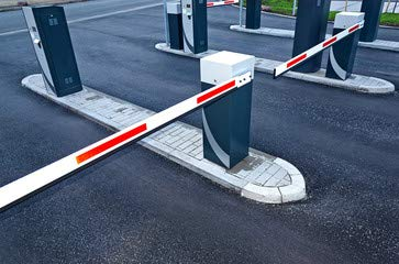 "Alu-Dibond-Bild 80 x 50 cm: \""Parkplatzschranke ? Schranke geschlossen - Closed Barrier\"", Bild auf Alu-Dibond"