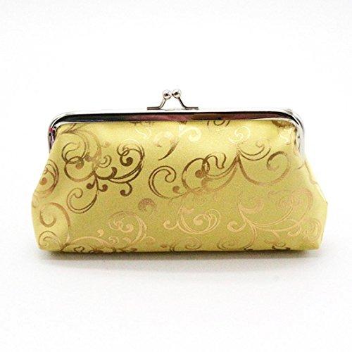 Amlaiworld Womens kleine Brieftasche Karte Halter Münze Geldbörse Clutch Handtasche Tasche (Gold) (Make-up Drucken Mini-handtasche)