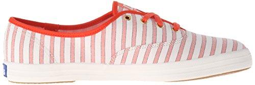 Keds Ch Cabana Stripe Coral, Chaussures à Lacets Femme Rose