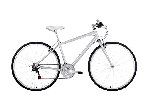Barracuda Women's Hydra 1 WS 24 Speed Sports Hybrid Bike, Matte Silver, 18.5-Inch/700c
