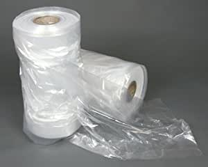"""20 Polythene Garment Covers Dry Cleaner Bags 24"""" x 38"""""""