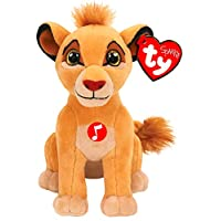 Ty TY41088 King Lion Musical Simba Soft Toy 15 cm Multi-Coloured