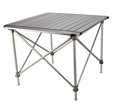 CRUTCH Campingtisch höhenverstellbar Tisch Falttisch für Picknick Grill-Strand mit Tasche