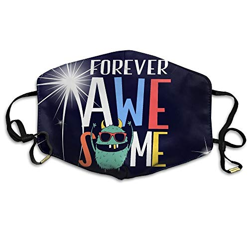 Masken, Masken für Erwachsene, Face Mask Reusable, Warm Windproof Mouth Mask, Unisex Hip Hop Forever Awesome Monogram Mouth Face Masks Women Humor Motorcycle Anti Dust Face Mouth Mask-Reusable ()