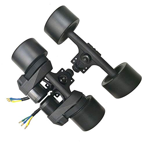 Tony Hawk Electric Skateboard Drive kit Double Drive hub brushless Motor Wheel 1500W Belt Conduction 83MM/90MM high Elasticity PU Wheel, Black,Black