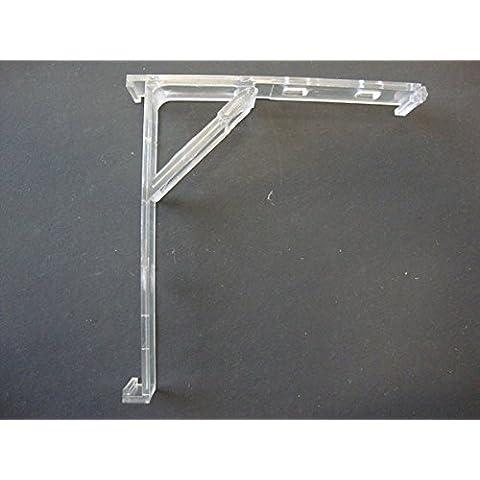 2QTY: Interior para estor Vertical soporte con construido en Polialgodón de clip, claro