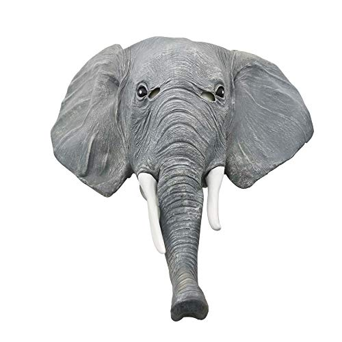SCLMJ Latex Maske Halloween,Lustige Neuheit Niedliche Graue Lange Nase Elefant Latex Maske, Unisex-Adult Maske Halloween Karneval Party Horror Kostüm - Niedliche Elefanten Kostüm