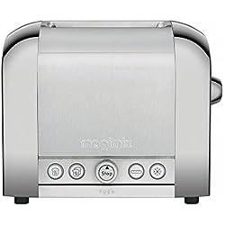 Magimix Le Toaster 2 tranches brossé-brillant Magimix Le Toaster 2 tranches brossé-brillant grille-pain brillant/brossé