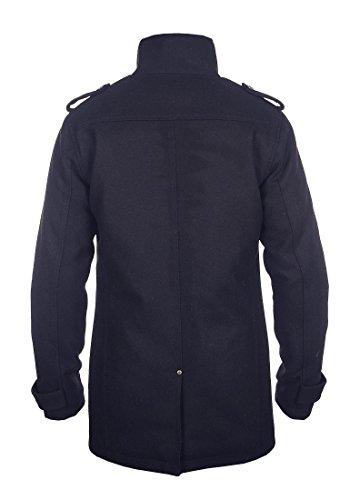 Blend Warren Herren Winter Mantel Wollmantel Lange Winterjacke mit Stehkragen, Größe:S, Farbe:Navy (70230) - 3