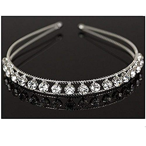 Ziory Silver-Plated Crystal Crown Princess Tiara Hairband for Baby Girl's Best Online Shopping Store