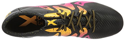 adidas X 15.3 FG/AG, Chaussures de Football Homme Multicolore (Cblack/shopin/sogold)