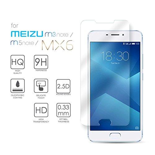 Meizu M5 Note Hartglas Schutzfolie Bildschirmschutz, Gehärtetem Glass Folie für Meizu M5 Note / M3 Note, 5.5 Zoll - 9H Glashärte, Kratzfeste & Ölabweisende Beschichtung, HD Transparenz & Feingefühl