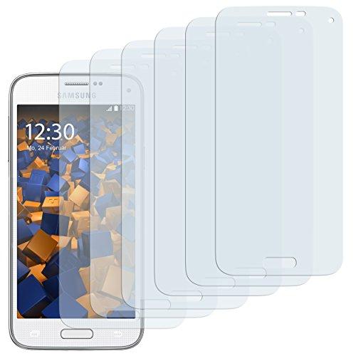 6 x mumbi Schutzfolie Samsung Galaxy S5 Mini Folie Bildschirmschutzfolie