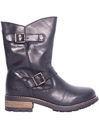 45d59d7af7 Oak & Hyde - Crest Demi - Black Leather MID Calf Boots