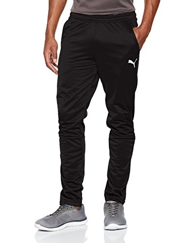 PUMA Herren Liga Training Pants Hose, schwarz(Puma Black-Puma White), L -