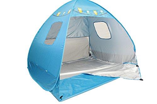 Preisvergleich Produktbild Große Eulen Strandmuschel mit UV-Schutz - 2 große Taschen - 3 Fenster - mit Tragetasche