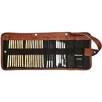 Cooja Set de Lapices de Dibujo, Lapiz Kit de Arte Material de Dibujo con Lapices Grafito e Lapices Carboncillo, Set de Artista para Bosquejo, 29 Piezas