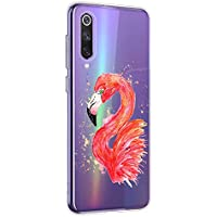 Oihxse Compatible con Xiaomi Mi 9 SE Funda Suave Gel TPU Silicona Cristal Transparente Carcasa Acuarela Animal Pintado Patrón Protectora Estuche Bumper Caso Case (B3)